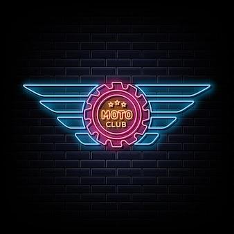 Motor club neon logo neon teken