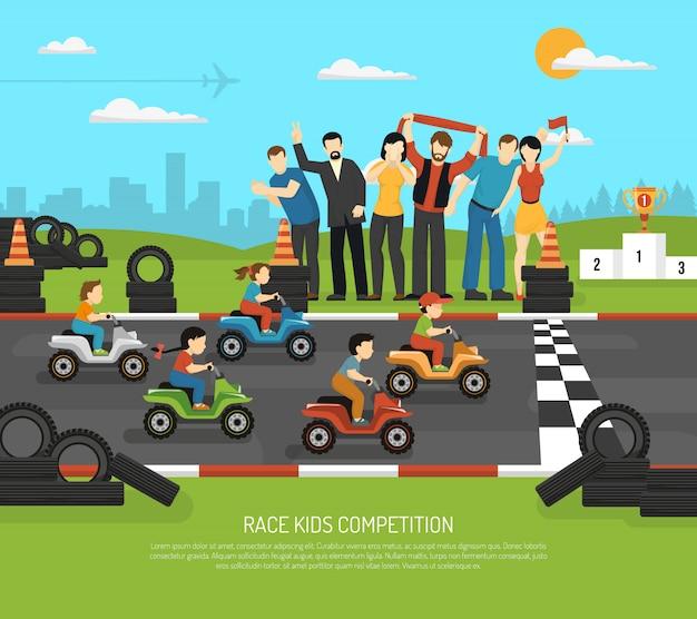Motor racing kinderen achtergrond