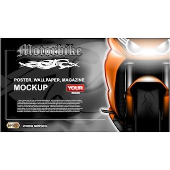 Motorbike achtergrond ontwerp