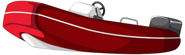 Motorboot of speedboot geïsoleerd op witte achtergrond