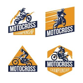 Motorcross logo collectie