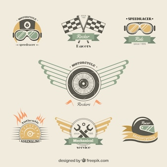 Motorcycle badges