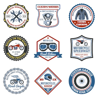 Motorcycle label colored