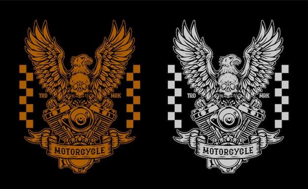 Motorfiets aangepaste illustratie