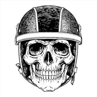 Motorfiets biker schedel hoofd helm moto tattoonemblem,