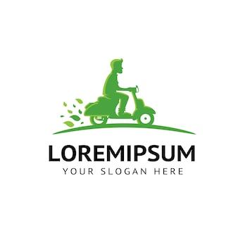 Motorfiets eco groene energie logo