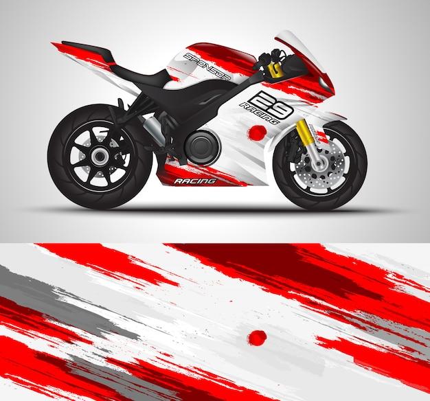 Motorfiets embleem en vinyl sticker