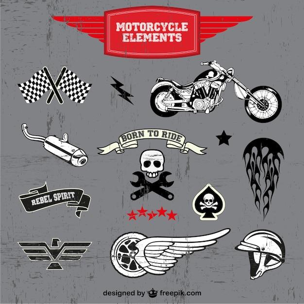 Motorfiets gratis vector logo's instellen