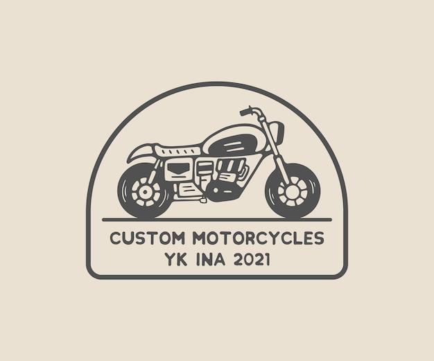 Motorfiets klassiek aangepast vintage logo