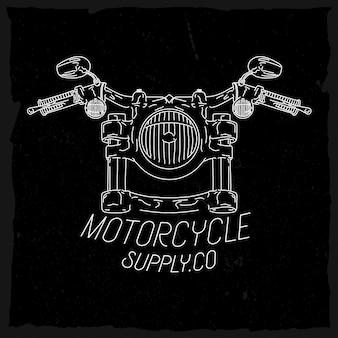 Motorfiets koplamp in lijnstijl voorraad