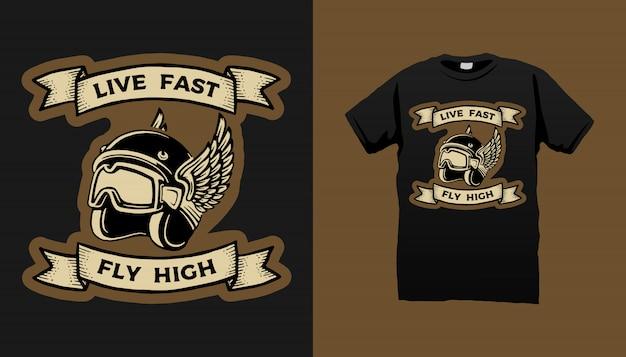 Motorfiets kunst tshirt design
