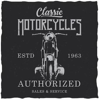 Motorfiets labelontwerp