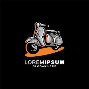Motorfiets logo ontwerp illustratie