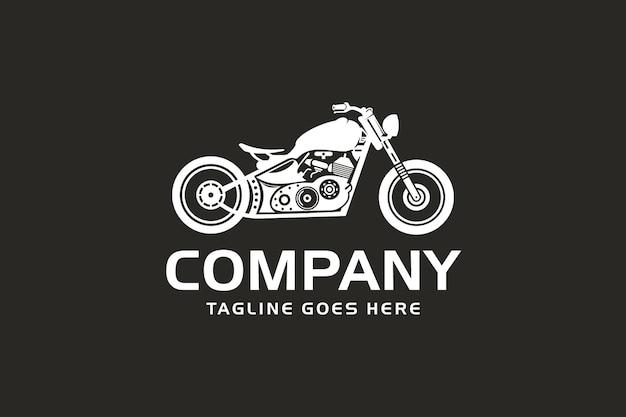Motorfiets logo, retro motorfiets