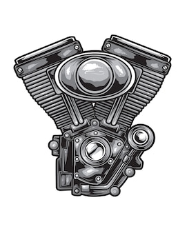 Motorfiets motor vector