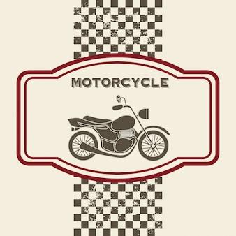 Motorfiets ontwerp over vintage achtergrond