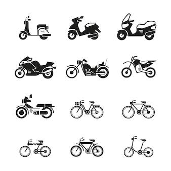 Motorfiets pictogrammen
