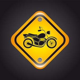 Motorfiets signaal