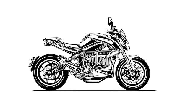 Motorfiets silhouet
