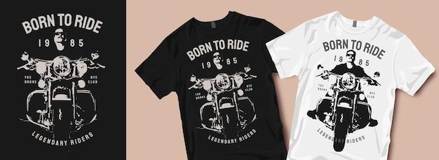 Motorfiets t-shirt ontwerpen silhouetten