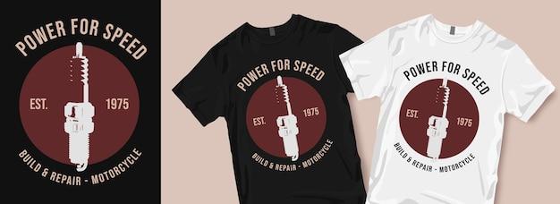 Motorfiets t-shirt ontwerpen