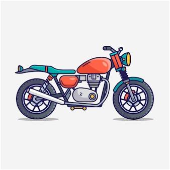 Motorfiets vector cartoon illustratie clipart