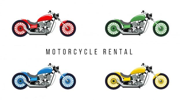 Motorfiets verhuur plat ontwerp