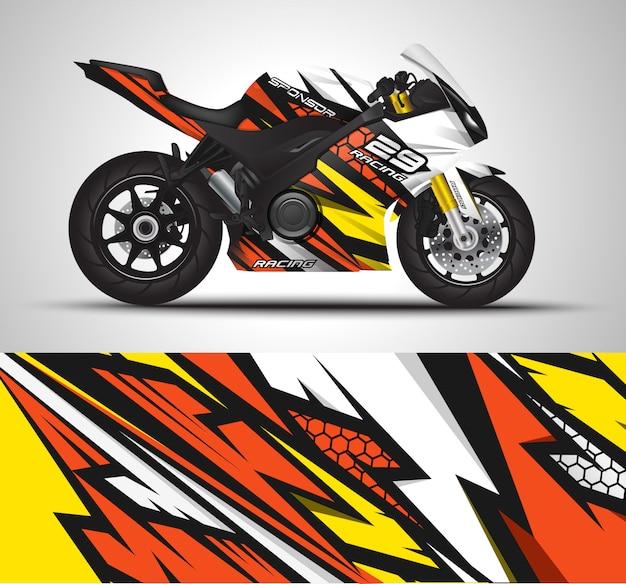 Motorfiets wrap sticker en vinyl sticker illustratie.