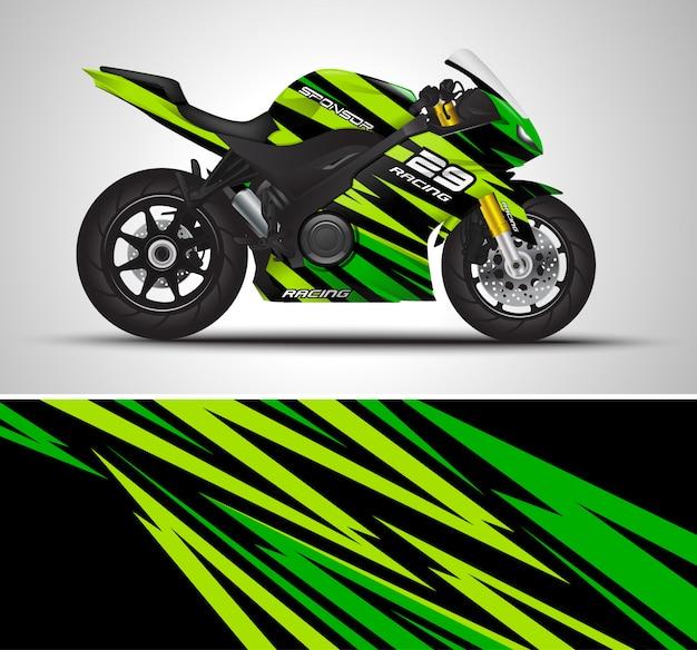 Motorfiets wrap sticker illustratie