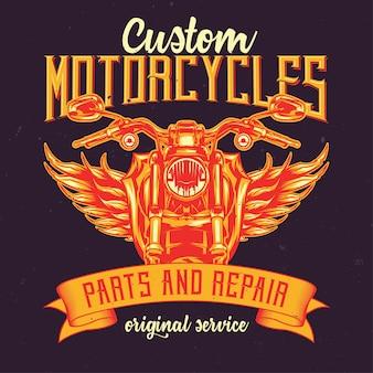 Motorfietsen illustratie