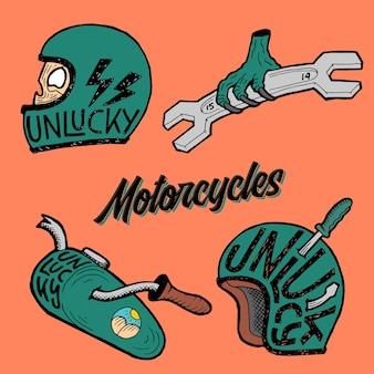 Motorfietsen pack illustratie