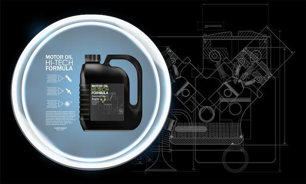 Motorolie jerrycans en auto-olie geïsoleerd op een witte achtergrond. auto service en auto-onderhoud concept.