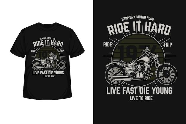 Motorracen typografie t-shirtontwerp