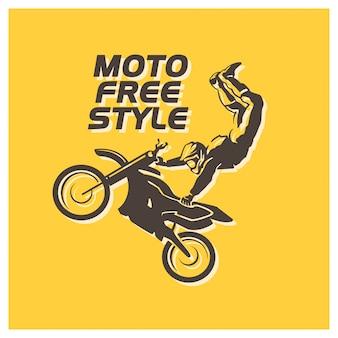 Motorrijder karakter illustratie.