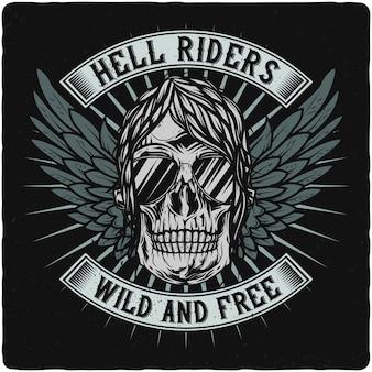 Motorrijder schedel