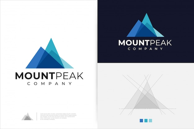 Mount peak logo ontwerpsjabloon.