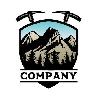 Mountain adventure logo bedrijfssjabloon