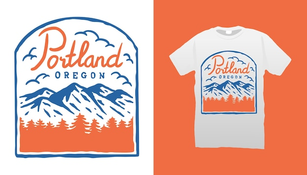 Mountain camping tshirt ontwerp