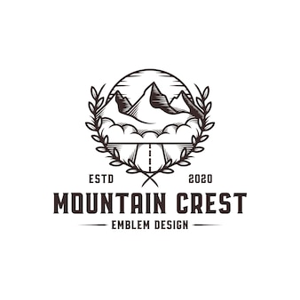 Mountain crest logo sjabloon