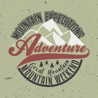 Mountain expeditions adventure