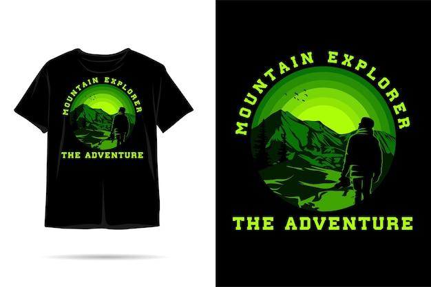 Mountain explorer silhouet tshirt ontwerp