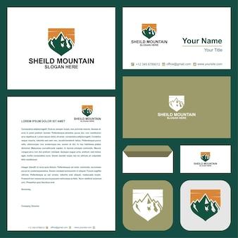 Mountain logo en visitekaartje premium