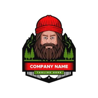 Mountain man badge vectorillustratie