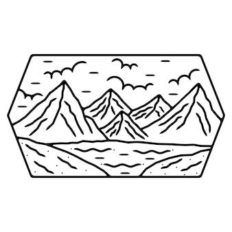 Mountain monoline outdoor-ontwerp