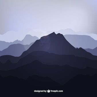 Mountain silhouetten