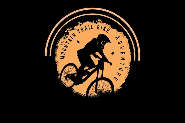 Mountain trail bike adventure kleur lichtgeel