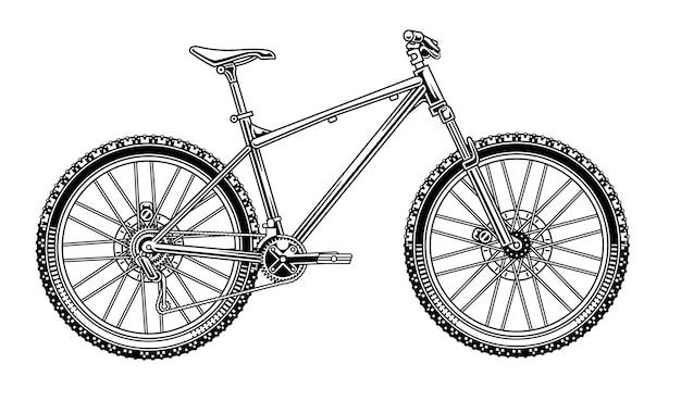 Mountainbike illustratie