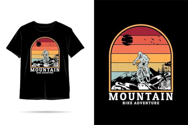 Mountainbike silhouet tshirt ontwerp