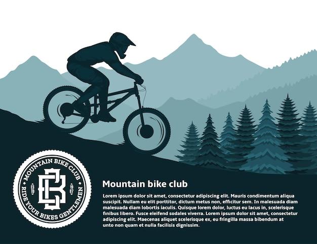 Mountainbiken illustratie