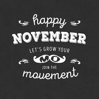Moustahe movember belettering